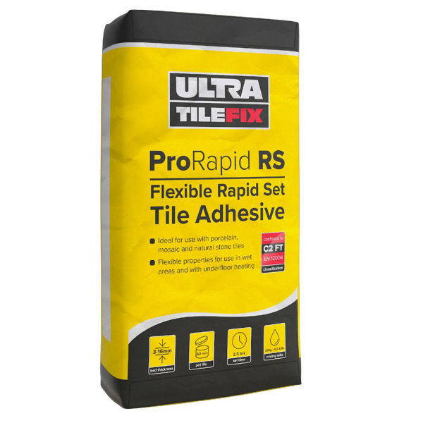 Picture of Flexible Rapid Set White Adhesive 20kg PRO RSW20 (Yellow)