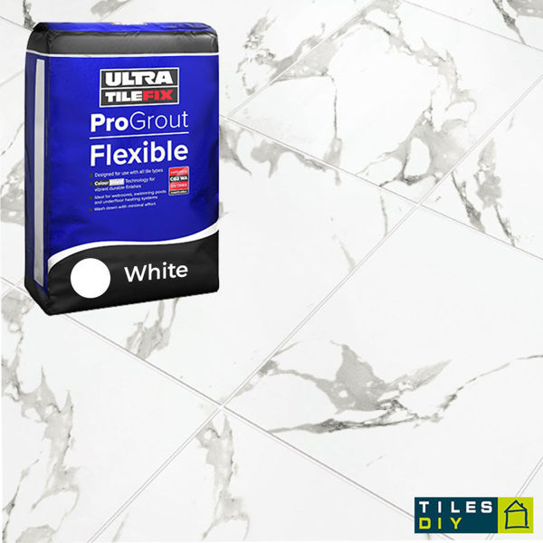 Picture of ProGrout Flexible White Grout 10kg