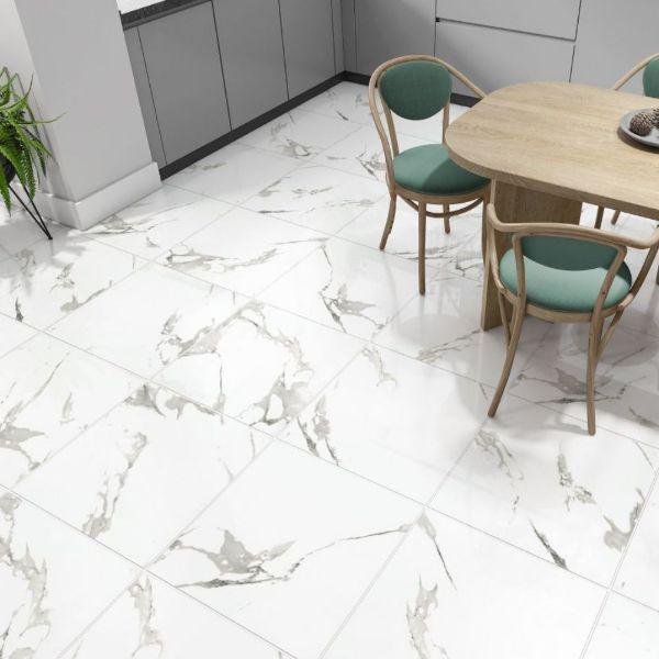 Picture of Lumitec Carrara White Polished Tile 60x60 cm