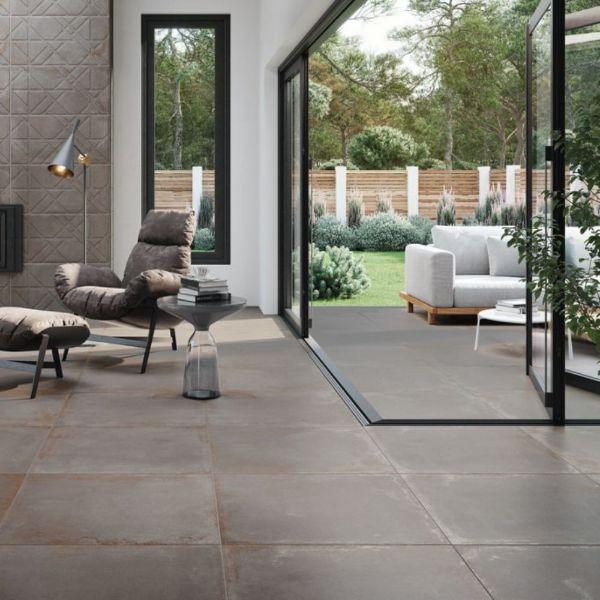 Picture of Ruggine Grey Matt Tile 75x75 cm