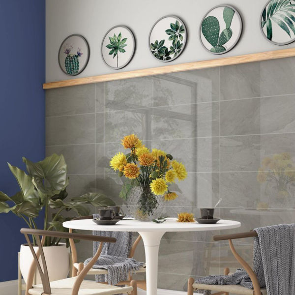 Picture of Camden Grey Polished Tile 25x60 cm
