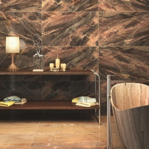 Picture of Glass Décor Brown Polished Tile 60x120 cm