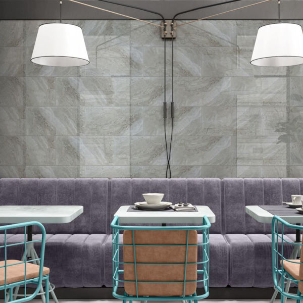 Picture of Hampton Grey Polished Tile 25x50 cm