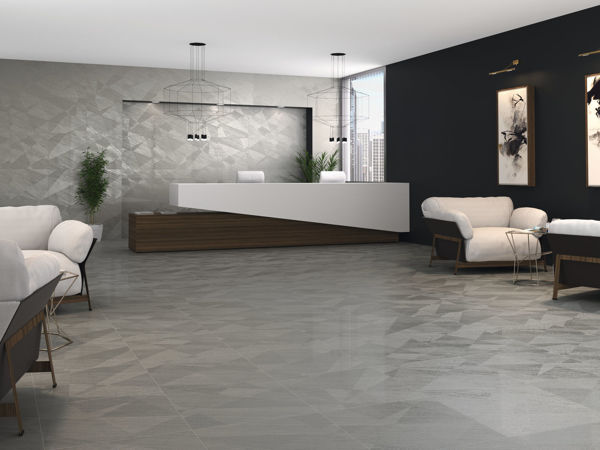 Picture of Materia Grey Sugar Polished Tile 60x60 cm
