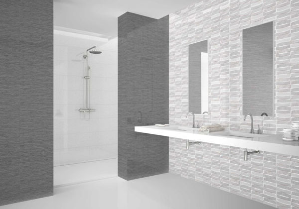 Picture of Teide White Polished Tile 25x75 cm