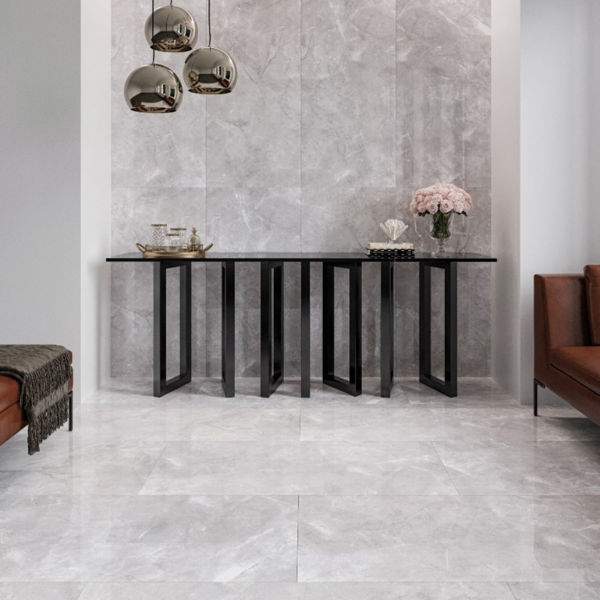 Picture of Silver Ice Polished Tile 60x120 cm