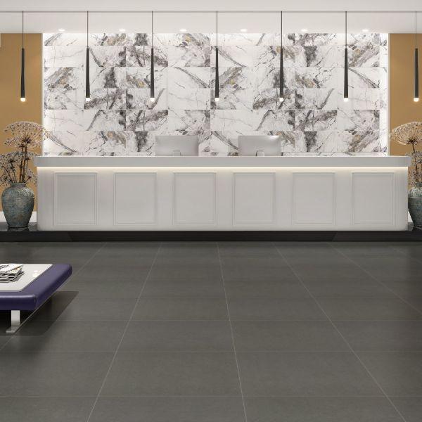 Picture of Visage Dark Grey Polished Tile 30x60 cm