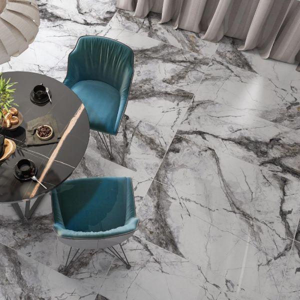 Picture of Visage Dark Grey Polished Tile 60x120 cm