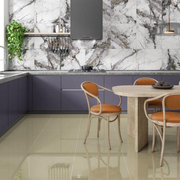 Picture of Visage Dark Grey Polished Tile 60x60 cm