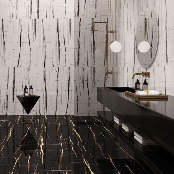 Picture of Sahara Black Sugar Polished Tile 60x120 cm
