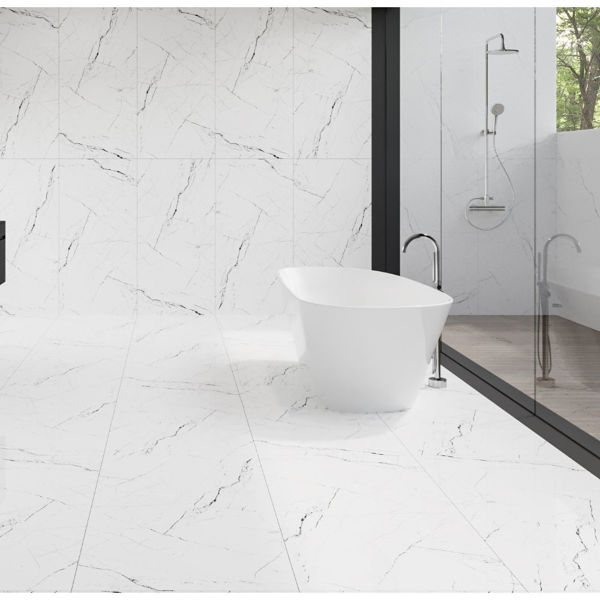 Picture of Pietra White Polished Tile 60x120 cm