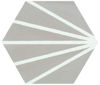 Picture of Meraki Grey Matt Hexagon Tile 20x20 cm
