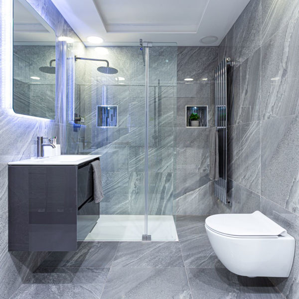 Picture of Crossover Grey Polished Tile 60x60 cm