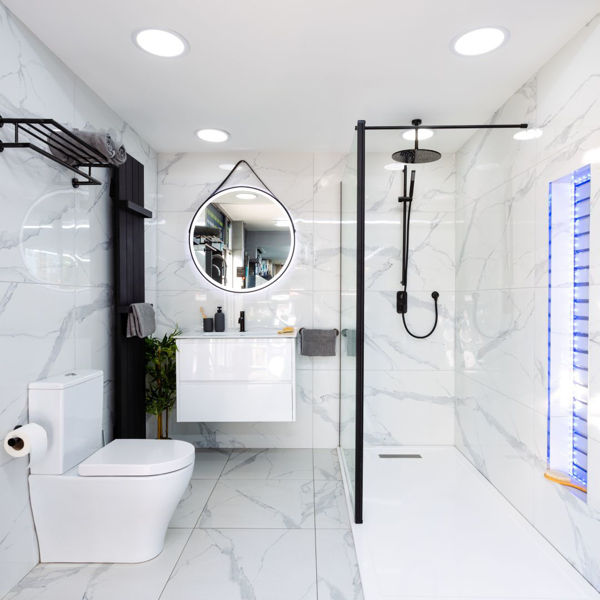 Picture of Calacatta Blanco Polished Tile 60x120 cm