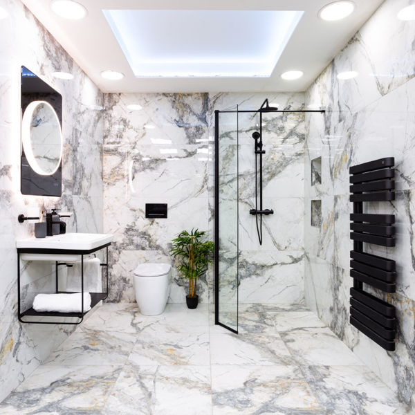 Picture of Visage White Polished Tile 60x120 cm