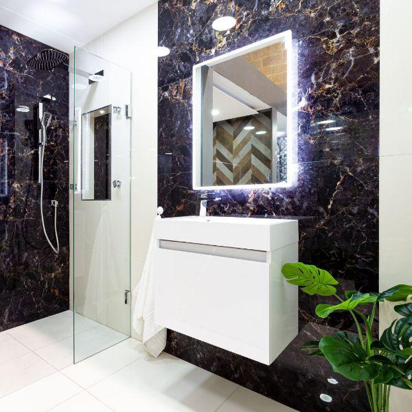 Picture of Magic Black Decor Polished Tile 60x120 cm
