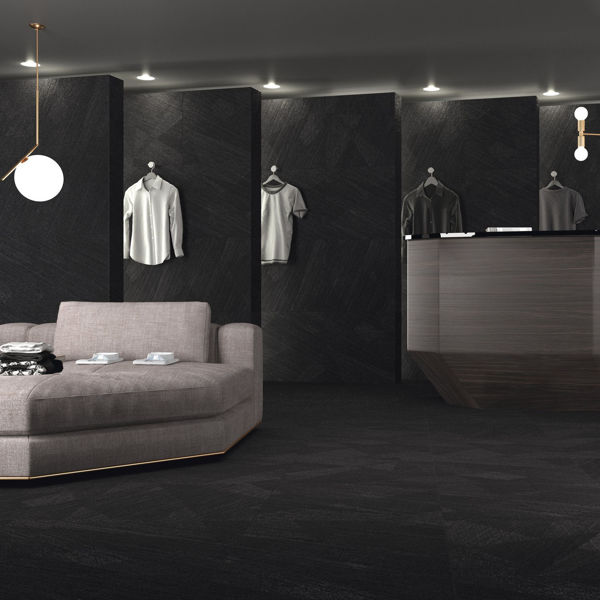 Picture of Materia Black Sugar Polished Tile 60x60 cm