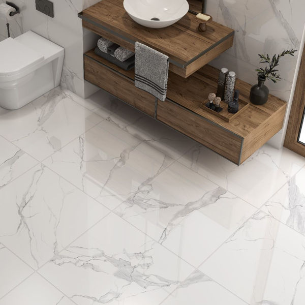 Picture of Calacatta Blanco Polished Tile 60x60 cm