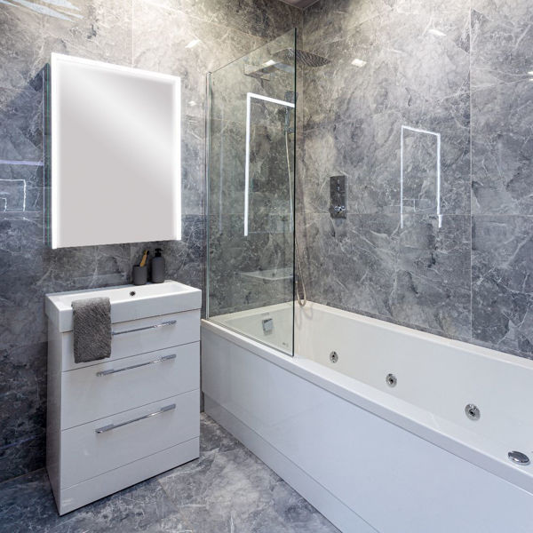 Picture of Armany Grey Polished Tile 60x120 cm