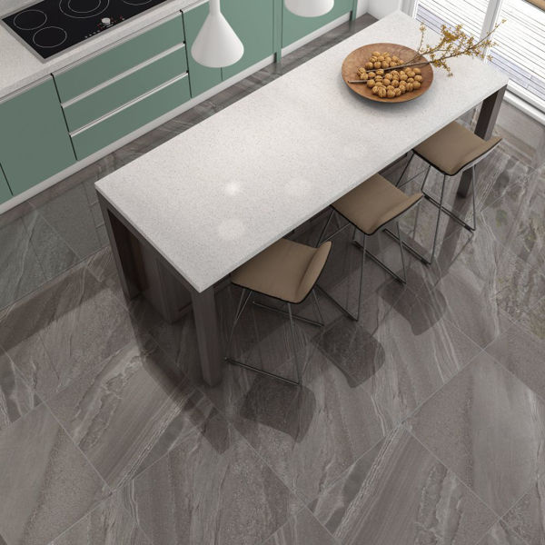 Picture of Crossover Dark Grey Sugar Polished Tile 60x60 cm