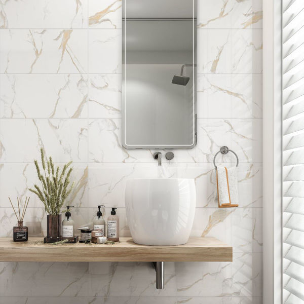 Picture of Calacatta Gold Polished Tile 30x60 cm