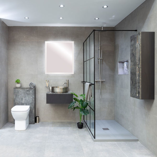 Picture of Hometec Grey Semi Polished Tile 30x60 cm