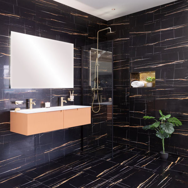 Picture of Sahara Black Sugar Polished Tile 60x60 cm