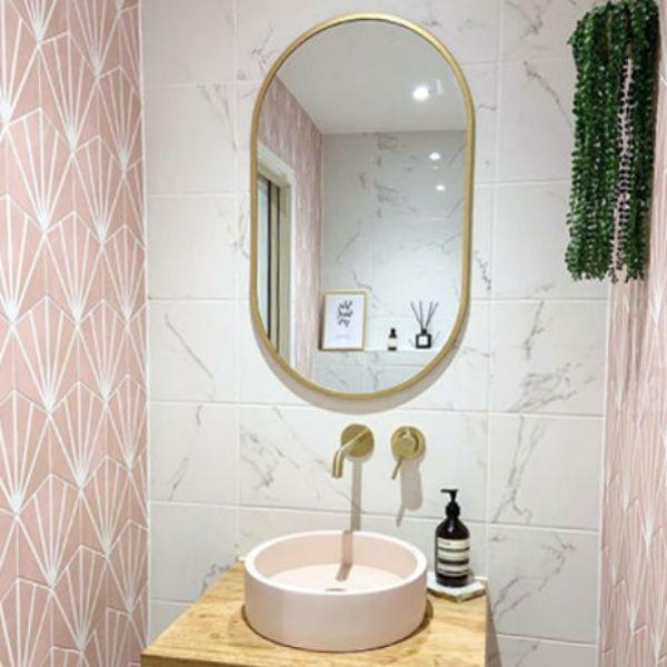 Picture of Meraki Pink Matt Hexagon Tile 20x20 cm