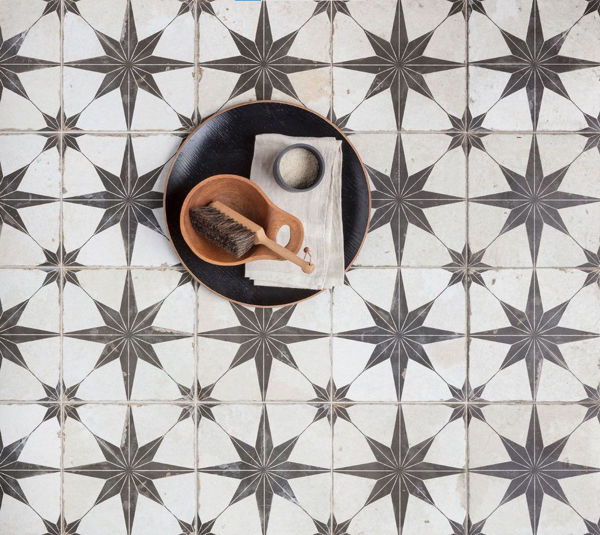 Picture of Orient White Patterned Wall and Floor Tiles 45x45 cm