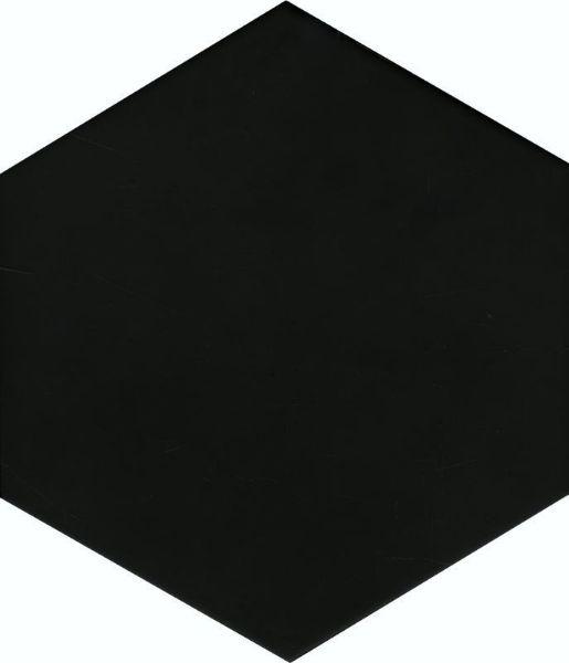 Picture of Solid Black Hexagon Tiles 21.5x25 cm