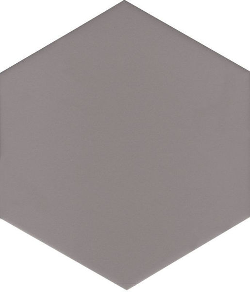 Picture of Solid Grey Hexagon Tiles 21.5x25 cm