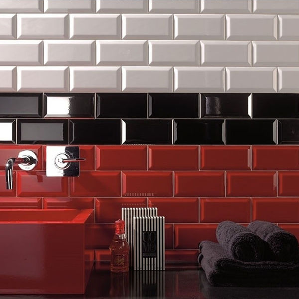 Picture of Metro Red Polished Tile 10x20 cm