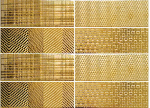 Picture of Glam Gold Polished Decor Tiles 10x30 cm